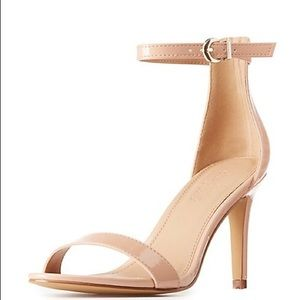 Charlotte russe nude strappy heels size 6